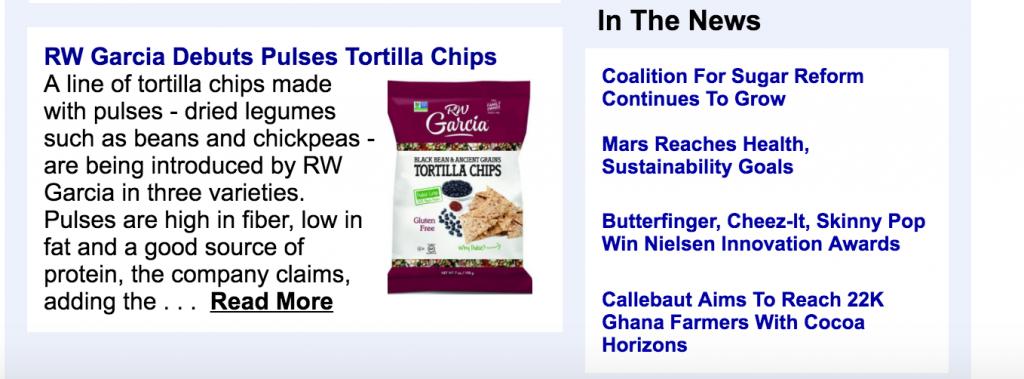 RW Garcia Debuts Pulses Tortilla Chips